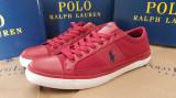 42,44_adidasi originali barbati Polo Ralph Lauren_cu panza_rosu_in cutie, 44, Rosu, Piele sintetica, Ralph Lauren