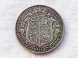 MONEDA argint HALF CROWN ANGLIA 1920 de colectie GEORGE V GREAT BRITAIN, Europa