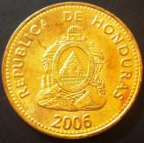 Moneda 20 Centavos de Lempira - HONDURAS, anul 2006  *cod 4491  UNC, America Centrala si de Sud