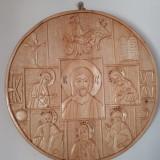 Icoana Prasnicala sculptata din lemn