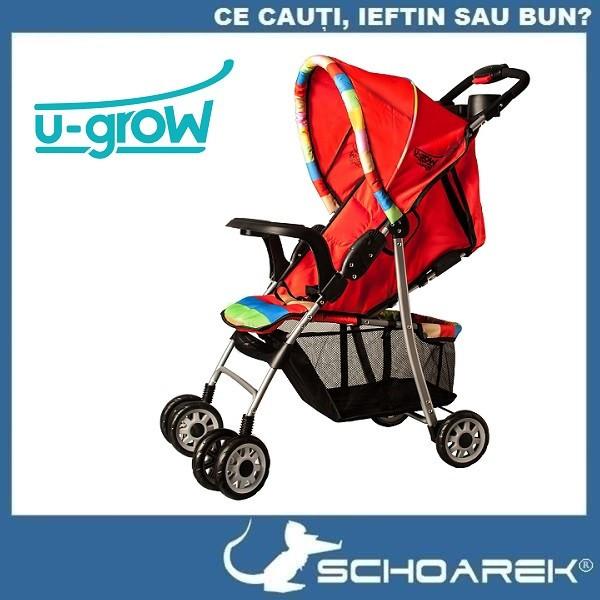Carucior pliabil U-Grow - Rosu