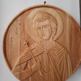 Icoana Sf. Mucenic Ioan Rusul sculptata din lemn