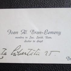 Carte de vizita IOAN AL. BRAN - LEMENY