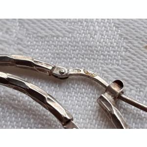 CERCEI argint VECHI superbi ROTUNZI executati manual PATINA MINUNATA de efect
