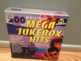 MEGA JUKEBOX HITS -  VARIOUS ARTISTS - 10 CD BOX (1993/DISKY/UK) - CD ORIGINAL, emi records