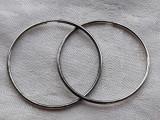 CERCEI argint ROTUNZI mari VECHI vintage Patina frumoasa