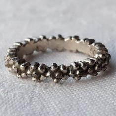 INEL argint BRAU de FLORI tip verigheta VECHI finut DELICAT de efect ELEGANT rar