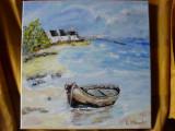 Marina 7-pictura ulei pe panza;, Marine, Altul