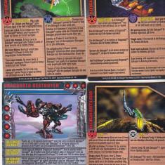 bnk jc  Bakugan - set 40 carduri diferite ( 2011-2012) , nemagnetice