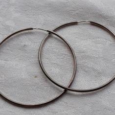 CERCEI argint ROTUNZI si MARI vechi VINTAGE patina frumoasa