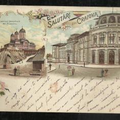 Cp Litho CRAIOVA - 1900, Circulata, Printata