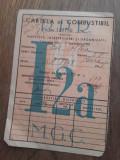 CARTELA COMBUSTIBIL, 1952 // LOT 3 BUCATI