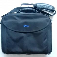 Geanta laptop/diplomat Dell,grad ridicat de protectie; 20 compartimente; ca noua