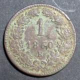 Austria 1 kreuzer 1860 E, Europa