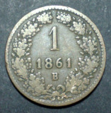 Austria 1 kreuzer 1861 B, Europa