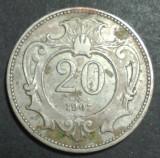 Austria 20 heller 1907, Europa