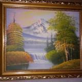 Tablou peisaj montan, Natura, Acrilic, Realism