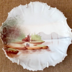 Portelan Limoges  Franta  anii 1920 pictat manual farfurie antichitati cadou