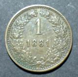 Austria 1 kreuzer 1881, Europa