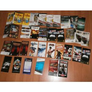 Lot de coperti , manuale, sleeve-uri ,etc. de la jocuri console - PSP , Wii ...