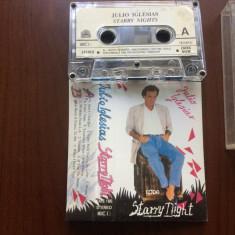 Julio iglesias starry night caseta audio muzica pop usoara 1990, Casete audio