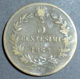 Italia 5 centesimi 1862, Europa