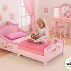 Pat fetite Princess Royal - roz din lemn MDF, Altele, 160X80cm