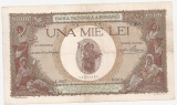 ROMANIA 1000 LEI 1938 SUPRATIPAR TARANCUTE VF
