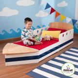 Patut copii barcuta vaporas Boat Toddler Bed KIDKRAFT din lemn MDF, Altele, 160X80cm, Albastru