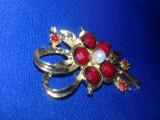 BROSA Vintage Aurie,brosa vintage dama,Bijuterie vintage,Transport GRATUIT