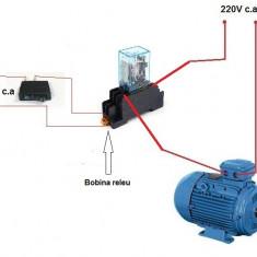 RELEU sau CONTACTOR cu bobina la 220V si 4 contacte care suporta 10A pe contact