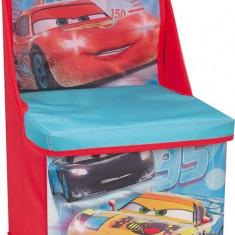 Scaun si cutie pentru depozitare Disney Cars