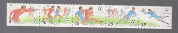 FOTBAL, RUSIA 1990 , C.M. FOTBAL ITALIA, straif nestampilat, MNH