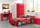 Pat Masina Rally Car, rosie, roti 3D din lemn MDF glossy high quality