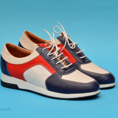 Pantofi dama sport-casual din piele naturala cu siret cod P130