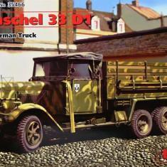+ Macheta 1/35 ICM 35466 - German Truck Henschel 33 D1 +