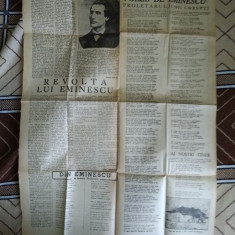 Ziarul Universul 1950, pagina :150 de ani de la nasterea lui Eminescu