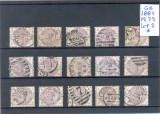 140-GB-Anglia 1884=Lot nr 2 de 15 timbre stampilate Mi 75 conform scan, Stampilat
