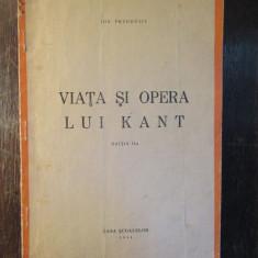 Ion Petrovici - Viata si opera lui Kant ,1944