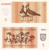 LITUANIA 1 talonas 1992 UNC!!!