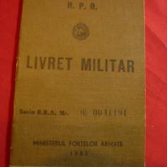 Livret Militar RPR 1956 -Arma Serviciul Medical Lt-major