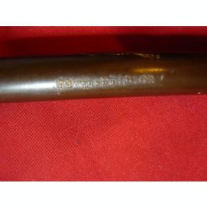 Miniatura Halebarda -bronz veche - Coupe papier , h= 20,5 cm, inscriptii