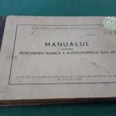 MANUALUL PENTRU ÎNTREȚINEREA TEHNICĂ A AUTOTURISMULUI GAZ-69/1960