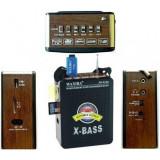 Radio FM portabil cu acumulator si port USB,slot card,Jack auxiliara, Digital, 0-40 W