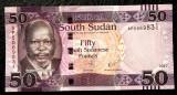 South Sud Sudan 50 Pounds 2017 UNC necirculata  **