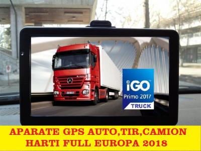 """GPS  Navigatie Ecran HD 7"""" GPS AUTO GPS TIR GPS CAMION  HARTI FULL EUROPA 2018 foto"""