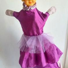 Marioneta teatru de papusi, papusa manuala, printesa, fata imparatului