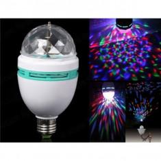 Bec rotativ disco led RGB Lumina Scena Home Decor