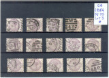 141-GB-Anglia 1884=Lot nr 3 format din 15 timbre stampilate Mi 75 conform scan, Stampilat