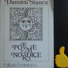 Poeme nordice Dumitru Stancu cu dedicatie